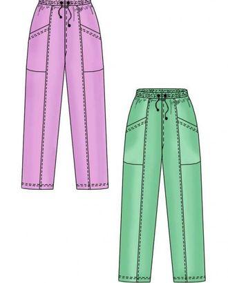 Выкройка: спортивные трикотажные брюки с накладными карманами арт. ВКК-1315-1-ЛК0007157