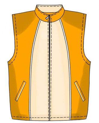 Выкройка: жилет с рельефами арт. ВКК-2002-1-ЛК0007167