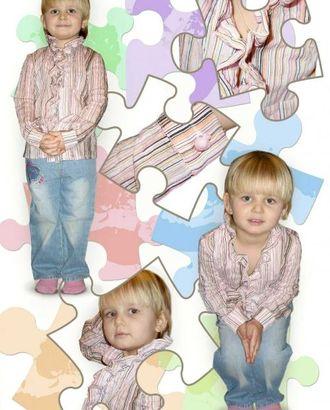 Выкройка: блузка с оборкой арт. ВКК-1451-1-ЛК0007184