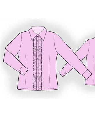 Выкройка: блуза с рюшами арт. ВКК-1913-1-ЛК0007189