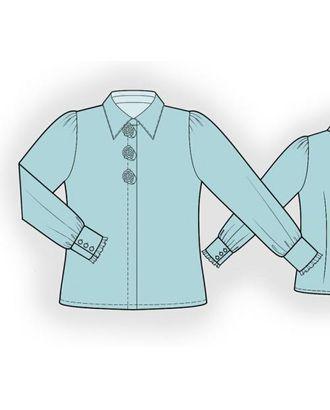 Выкройка: блузка с розами арт. ВКК-1132-1-ЛК0007193