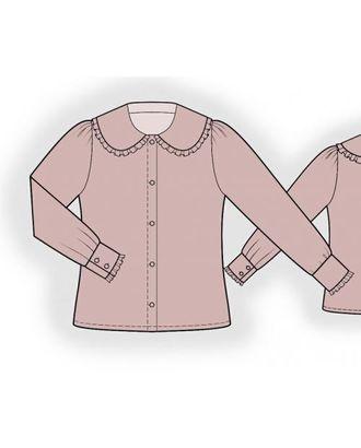 Выкройка: блузка с большим воротником арт. ВКК-1305-1-ЛК0007196