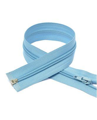 Молния пласт. спираль №5-N 70см цв.F184 голубой арт. МГ-70203-1-МГ0246350