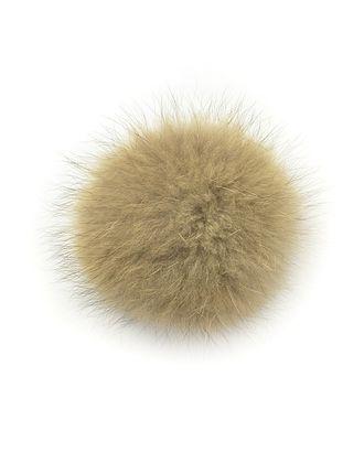 Помпон натуральный Енот 10см цв.натуральный коричневый А арт. МГ-4913-1-МГ0270987