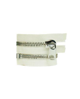 Молния металл №12 Premium никель разъем 65см цв.D841 белый арт. МГ-64104-1-МГ0716957
