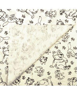 Трикотажная ткань 95х50 см хлопок 100% плотность 140гр цв.ТП-1165 веселые зверята уп.2шт арт. МГ-9434-1-МГ0646418