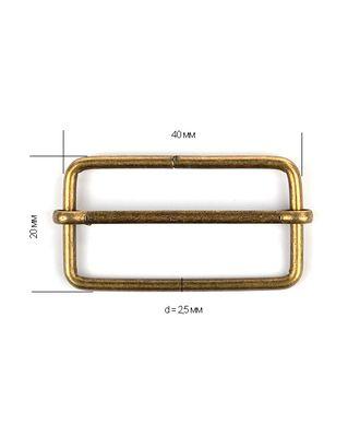 Шлевка металл TSW 40х20х2,5мм арт. МГ-8675-1-МГ0629067