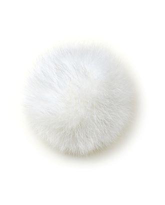 Помпон натуральный Песец 10см цв.белый арт. МГ-4915-1-МГ0270989
