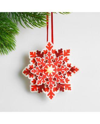 Набор для создания новогодней подвески со светом «Цветная снежинка» арт. СМЛ-15994-1-СМЛ3925198