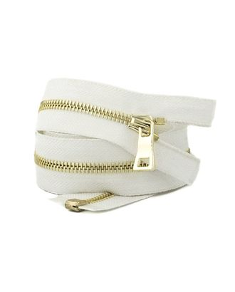 Молния металл №5 Premium светлое золото н/р 18см цв.D841 белый арт. МГ-64075-1-МГ0716925
