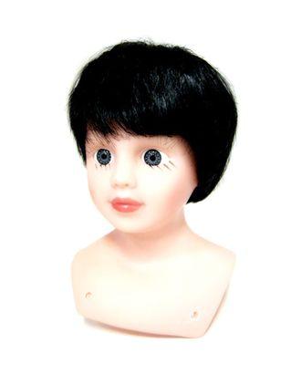 Волосы прямые короткие П80 цв.черный арт. МГ-6670-1-МГ0501276