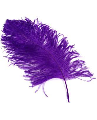 Перо страуса 40-45 см цв.фиолетовый арт. МГ-78159-1-МГ0171782