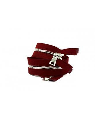 Молния металл №5 Premium никель н/р 18см цв.D519 ярко красный арт. МГ-64090-1-МГ0716941