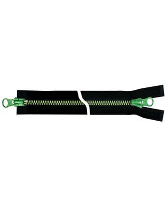 Молния YKK Metalux, двухзамковая, зеленый, Т5 75см арт. СВКТ-2274-2-СВКТ253325.S3_250097