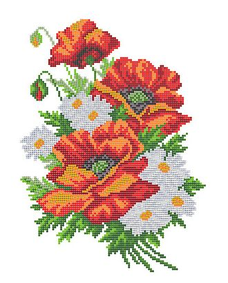 """Канва/ткань с рисунком """"Матренин посад"""" для вышивания бисером 28 см х 34 см арт. ГММ-1164-3-ГММ0039543"""