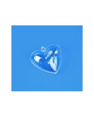 """Заготовки для декорирования """"Rayher"""" Сердце, пластик, 2 части, 6 см, прозрачный пластик арт. ГММ-5922-1-ГММ0030740"""