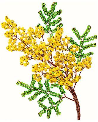 "Набор ""Клевер"" АА 05-605 Цветок из бисера. ""Желтая мимоза"" арт. ГММ-12376-1-ГММ0062290"