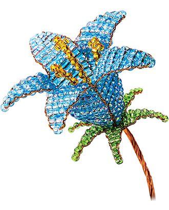 "Набор ""Клевер"" АА 05-607 Цветок из бисера. ""Голубой колокольчик"" арт. ГММ-12378-1-ГММ0051762"