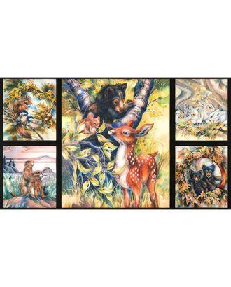 Ткани для пэчворка PEPPY NORTH AMERICAN WILDLIFE 6 PANEL ФАСОВКА 60 x 110 см 146±5 г/кв.м 100% хлопок арт. ГММ-10329-2-ГММ057495256862