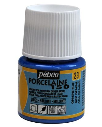 "Краска по фарфору и керамике под обжиг глянцевая ""PEBEO"" Porcelaine 150 45мл арт. ГММ-10772-34-ГММ0005707"