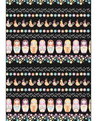 Ткани для пэчворка КРОШКИ-МАТРЁШКИ 112 см 100% хлопок ( в метрах ) арт. ГММ-11687-5-ГММ0037767