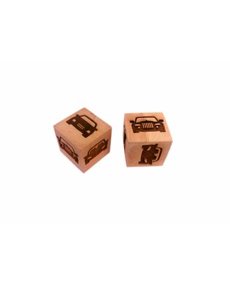 "Деревянный кубик с узором ""S-CHIEF"" SHF-0200 арт. ГММ-12734-5-ГММ0080323"