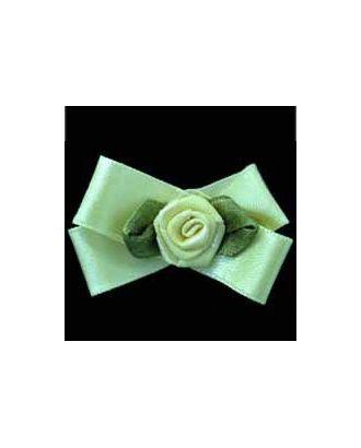 Цветок розочка атл. на банте №17 арт. ГММ-272-4-ГММ0005812