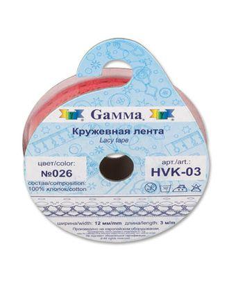 Тесьма декоративная кружевная HVK-03 ш.1,2 см 5х3м арт. ГММ-1511-2-ГММ0043353