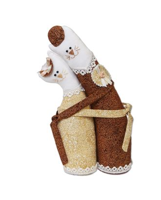 """Наборы для изготовления игрушек """"Miadolla"""" C-0105 Коты-обнимашки золотые арт. ГММ-3642-1-ГММ0057407"""