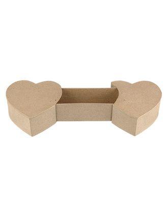 """Заготовки для декорирования """"Love2art"""" PAM-058 """"коробочка-сердца"""" папье-маше 20x11.5x5 см арт. ГММ-4290-1-ГММ0043705"""