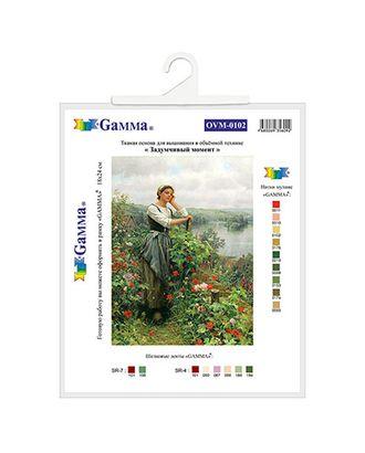 Канва/ткань с рисунком Основа с рисунком для вышивания лентами 30 x 36 см арт. ГММ-4999-1-ГММ0004345