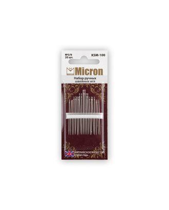 """Иглы для шитья ручные """"Micron"""" KSM-100 набор швейных игл 20 шт. в блистере арт. ГММ-99559-1-ГММ028022428002"""