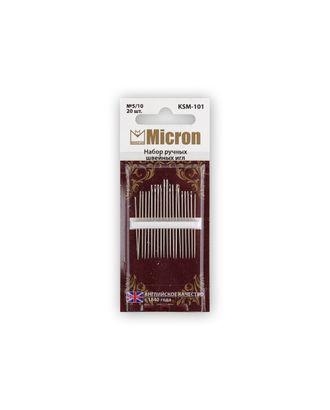 """Иглы для шитья ручные """"Micron"""" KSM-101 набор швейных игл в блистере 20 шт. арт. ГММ-99560-1-ГММ028022959802"""
