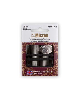 """Иглы для шитья ручные """"Micron"""" KSM-1012 универсальный набор швейных игл в блистере 25 шт. арт. ГММ-99561-1-ГММ028023037912"""