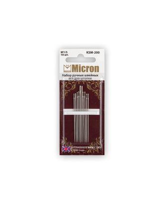 """Иглы для шитья ручные """"Micron"""" KSM-200 набор швейных игл для штопки 10 шт. в блистере арт. ГММ-99564-1-ГММ028026727192"""