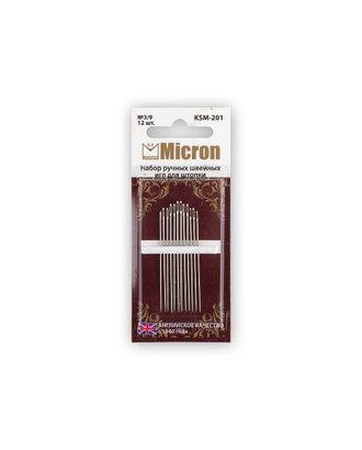 """Иглы для шитья ручные """"Micron"""" KSM-201 набор швейных игл для штопки в блистере 12 шт. арт. ГММ-99565-1-ГММ028026851122"""