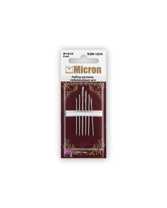 """Иглы для шитья ручные """"Micron"""" KSM-1054 набор гобеленовых игл 6 шт. в блистере арт. ГММ-99578-1-ГММ028028652202"""