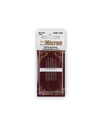 """Иглы для шитья ручные """"Micron"""" KSM-1055 набор гобеленовых игл 6 шт. в блистере арт. ГММ-99579-1-ГММ028028770072"""