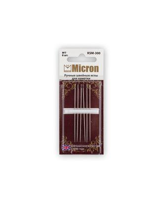 """Иглы для шитья ручные """"Micron"""" KSM-300 набор для наметки в блистере 6 шт. арт. ГММ-99585-1-ГММ028249596722"""