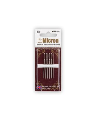 """Иглы для шитья ручные """"Micron"""" KSM-507 гобеленовые в блистере 6 шт. арт. ГММ-99599-1-ГММ028251656172"""