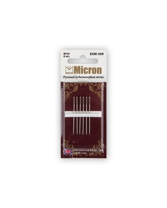"""Иглы для шитья ручные """"Micron"""" KSM-509 гобеленовые в блистере 6 шт. арт. ГММ-99600-1-ГММ028251657142"""