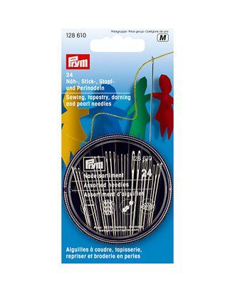 """Иглы для шитья ручные """"PRYM"""" 128610 набор для шитья, вышивки, штопки и бисера 24 шт. в блистере арт. ГММ-99606-1-ГММ002894602582"""