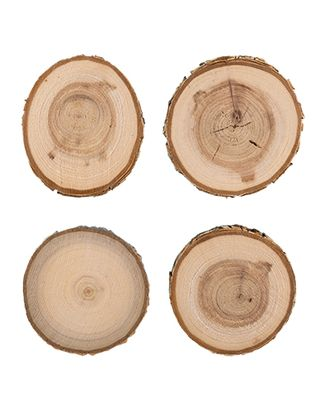 """Аксессуары для флористики """"Blumentag"""" СРЕЗ-01 срез дерева набор 9 см 4 шт. арт. ГММ-5698-1-ГММ0052050"""