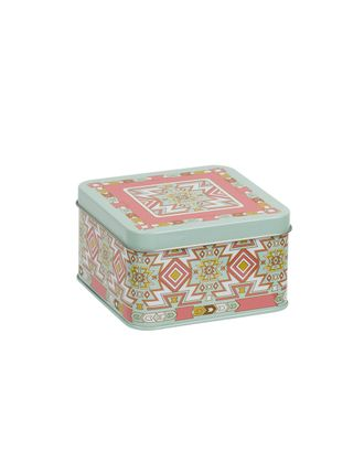 Жестяная коробочка металл MSB-04 11x11x6.3 см арт. ГММ-8570-1-ГММ0035893