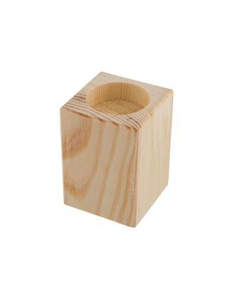 """Заготовки для декорирования """"Mr. Carving"""" ПР-36 Подсвечник средний сосна 7.5x5.5x5.5 см арт. ГММ-8676-1-ГММ0003002"""