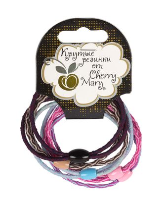 "Набор резинок для волос ""CHERRY MARY"" V/R6003 5х5шт арт. ГММ-8716-1-ГММ0066931"