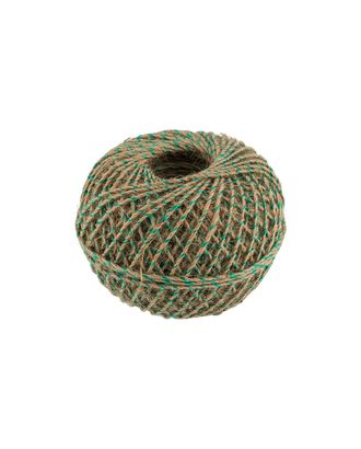 Шпагат джутовый с зеленой нитью ШДЗН 100% джут 100м 109я арт. ГММ-9552-1-ГММ0082900