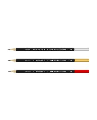 """""""ВКФ"""" """"For Office"""" 3P-1537 Набор графитных карандашей черный матовый с дипом ОПП ТМ (HB) 10 х 3 шт. арт. ГММ-10105-1-ГММ0065419"""