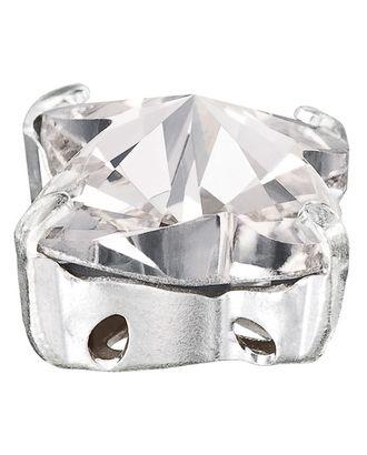 """PRECIOSA"" 1410/01 Crystal / ""silver"" 10 х 10 мм стекло 4 шт в пакете арт. ГММ-10613-1-ГММ0034654"