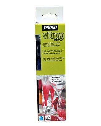 """Набор красок """"PEBEO"""" Vitrea 160 по стеклу под обжиг матовые 753414 6цв. 20мл арт. ГММ-10767-1-ГММ0076394"""